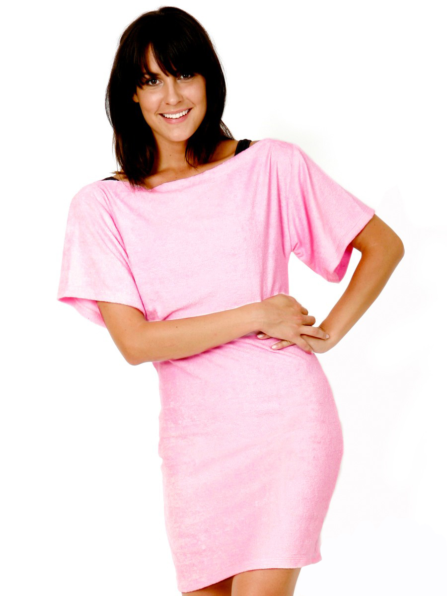 6243c2f7b9 Beach Cover Up | Terry | Pink – Terry Rich Australia