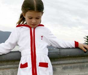 3df458715a These Sail-away Coverups come in crisp White with either Navy or Red Trim.  Available in children s sizes 2
